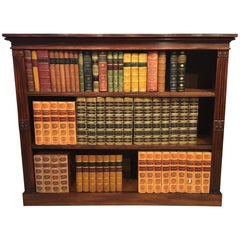 Cuban Mahogany Regency Period Antique Open Bookcase