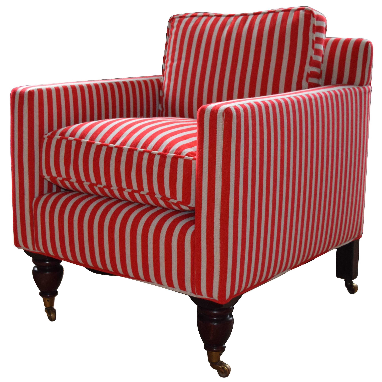 Cube Armchair Upholstered In Gert Voorjans For Jim Thompson Epingle