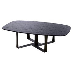 Cube Coffee Table with Printed Wood Top