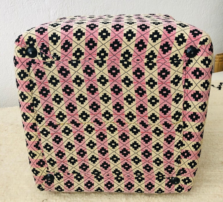 Cube Ottoman, Seat or Bench in Art Deco Style, Compatible Pair For Sale 12