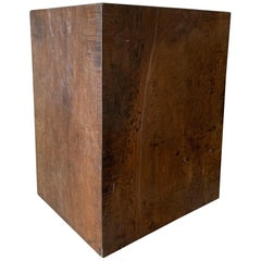 Cube Sidetable 18th Century Dark Walnut