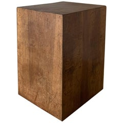 Cube Sidetable 18th Century Walnut