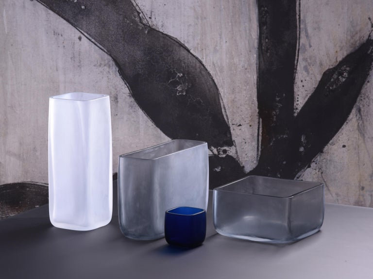 Modern 21st Century LPWK Vase Frosted Murano Glass Various Colors For Sale
