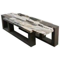 Petrified Wood Cubic Bench or Table