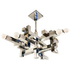 Cubic Gaetano Sciolari Chandelier, Italy, 1960s