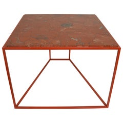'Cubic' Square Red Jasper Gemstone Cocktail / Coffee / Centre Table