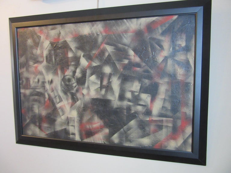 Cubist Art Deco Painting in the Style of George Braque For Sale 4