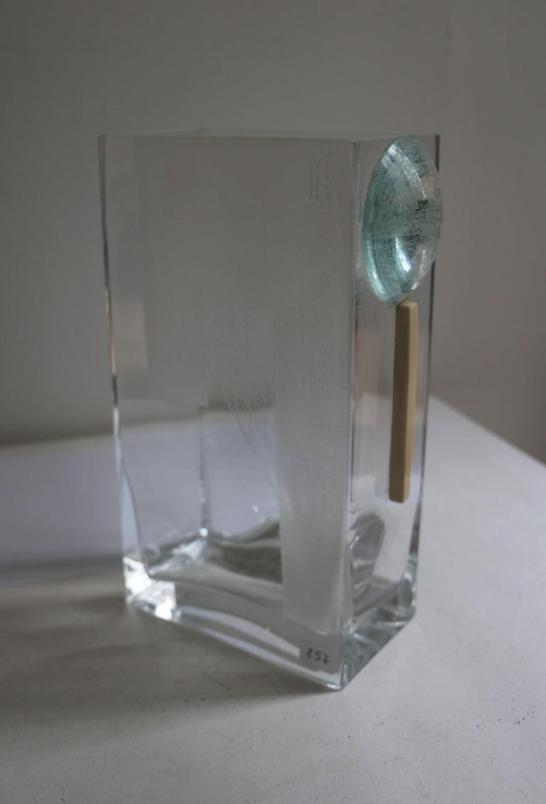 French Cubist Art Deco Vase by A Riecke, France, Signed and Dated 1939 For Sale