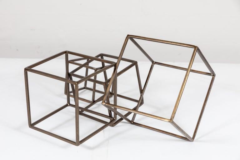 Welded Cubist Brass Sculpture For Sale