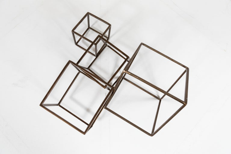Cubist Brass Sculpture In Good Condition For Sale In Los Angeles, CA
