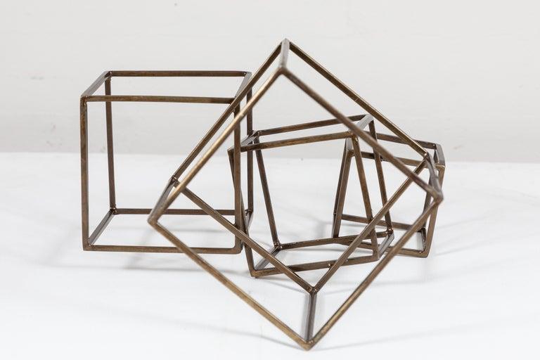 20th Century Cubist Brass Sculpture For Sale