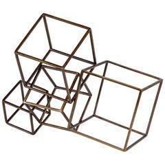 Cubist Brass Sculpture