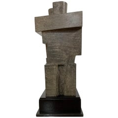 Cubist Bronze Sculpture 'The Twins' by Willy Kessels, Belgium, 1920s