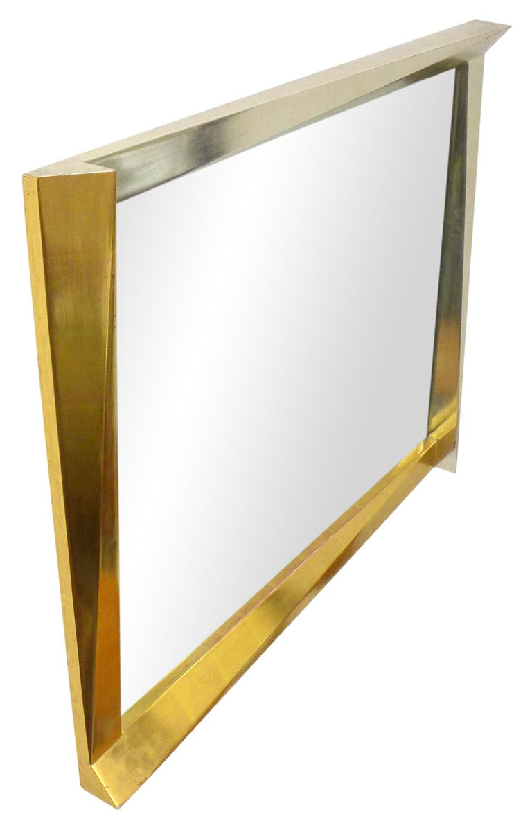 Cubist Giltwood-Framed Mirror In Good Condition For Sale In Los Angeles, CA