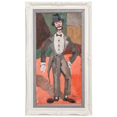 Cubist Inspired Clown Painting by Charles Levier