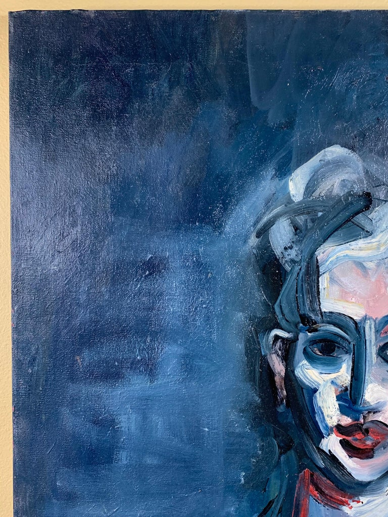 Cubist Oil Painting on Canvas In Good Condition For Sale In Delray Beach, FL