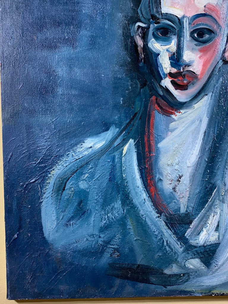 Cubist Oil Painting on Canvas For Sale 3