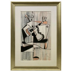 Cubist Pastel Painting by Record
