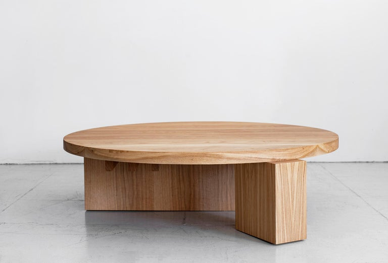 American Cubist Round Coffee Table by Orange For Sale