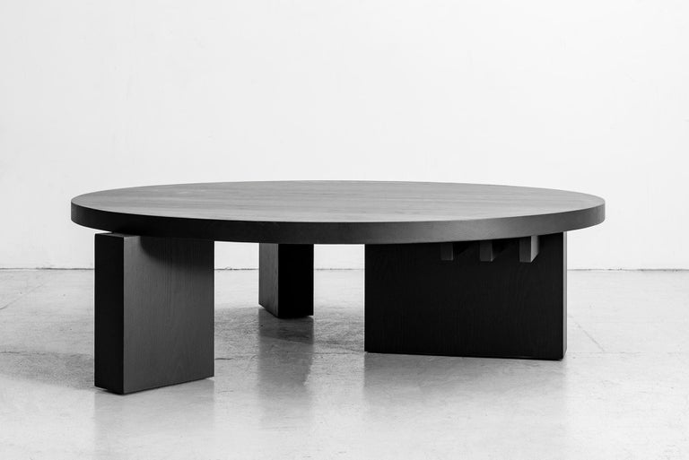 Cubist Round Coffee Table by Orange In New Condition For Sale In Los Angeles, CA