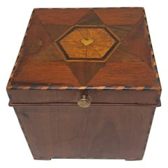Cuboid Jewelry Box, Walnut, Ebony, Mother of Pearl, Austria/Vienna, circa 1830