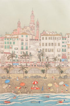 'Beach at Menton', Paris, Ecole des Beaux-Arts, New York, Woman Artist, Madrid