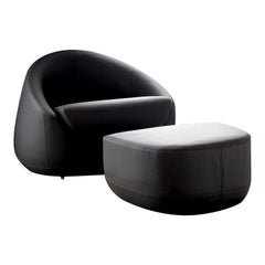 Cuccia Set of Armchair and Ottoman