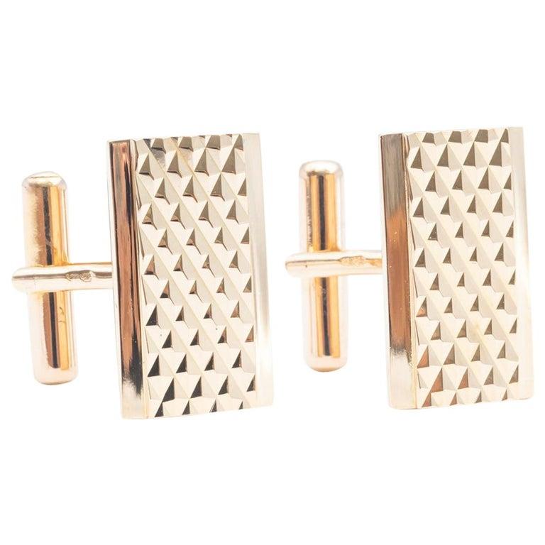 Cuckoo Buttons Art Deco Gold 18 Karat For Sale