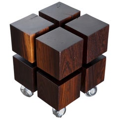 Cueramo Wood Occasional Cube Table