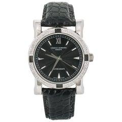 Cuervo Y Sobrinos Classic Driver A.2912 Men's Automatic Watch Diamond Bezel