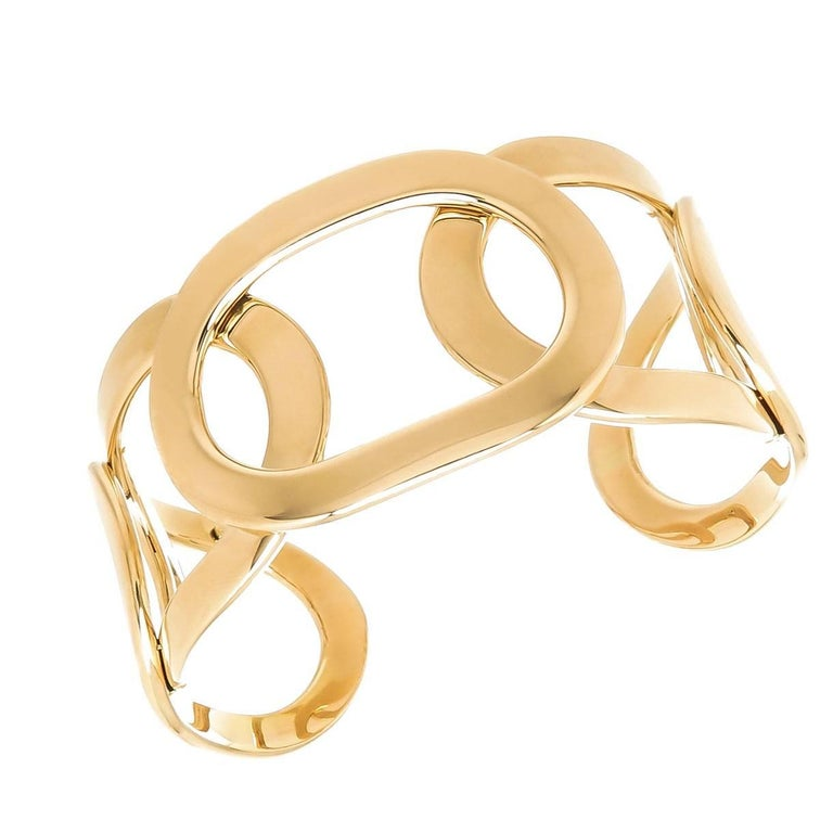 Cuff 18 Karat Yellow Bracelet