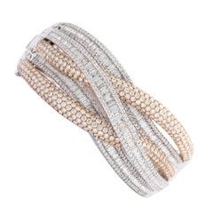 Cuff Bracelet Diamond Gold