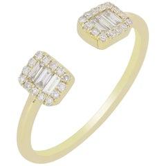 Cuff Diamond Ring in 18 Karat Yellow Gold