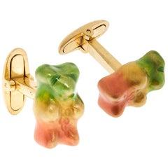 Cufflinks Gummy Bear Colours Unisex Gift 18k Gold-Plated silver Greek Jewelry