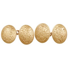 Cufflinks in 9 Karat Rose Gold, Antique, 1912