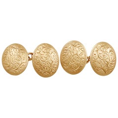 Cufflinks in 9 Karat Rose Gold, Antique, 1912