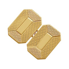 Cufflinks in 9 Karat Yellow Gold, Vintage, 1948