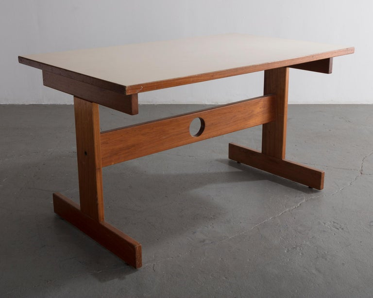 Modern Cuiabá Series Dining Table in Caviona and Formica by Sergio Rodrigues, 1985 For Sale
