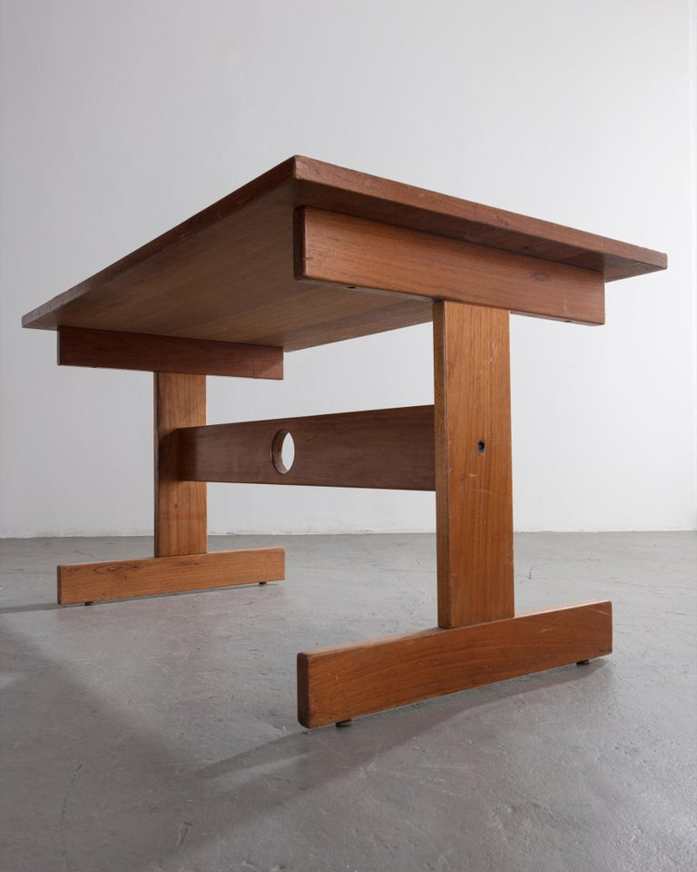 Cuiabá Series Dining Table in Caviona and Formica by Sergio Rodrigues, 1985 In Good Condition For Sale In New York, NY