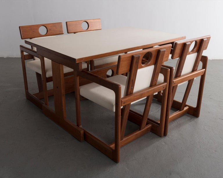 Wood Cuiabá Series Dining Table in Caviona and Formica by Sergio Rodrigues, 1985 For Sale