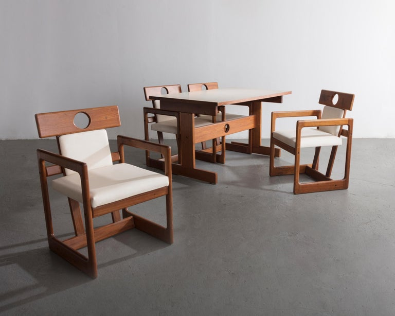 Cuiabá Series Dining Table in Caviona and Formica by Sergio Rodrigues, 1985 For Sale 1