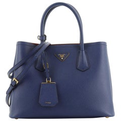 Cuir Double Tote Saffiano Leather Small