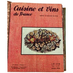 Cuisine and Wines of France by Larousse, Paris, 1963 French Cuisine Book