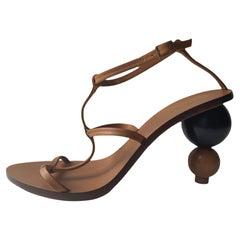 Cult Gaia Brown Eden Leather Sandals sz 36