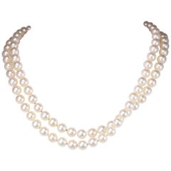 Cultured Pearl Strand with Yellow Gold Clasp
