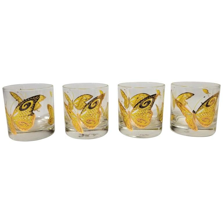 Culver 22-Karat Gold Midcentury Barware or Glassware For Sale