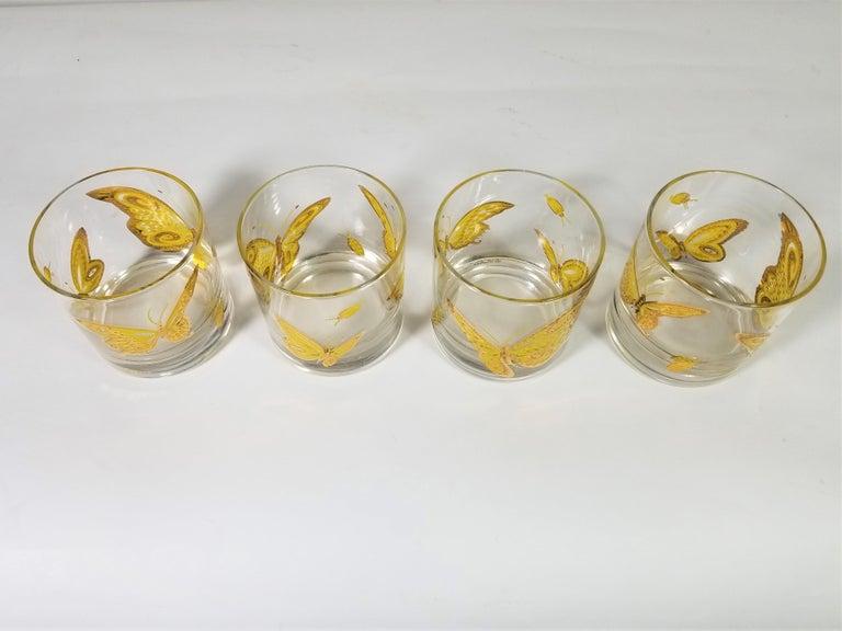Mid-Century Modern Culver 22-Karat Gold Midcentury Barware or Glassware For Sale