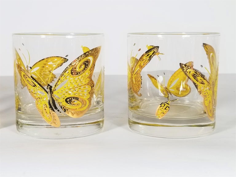Culver 22-Karat Gold Midcentury Barware or Glassware In Excellent Condition For Sale In New York, NY