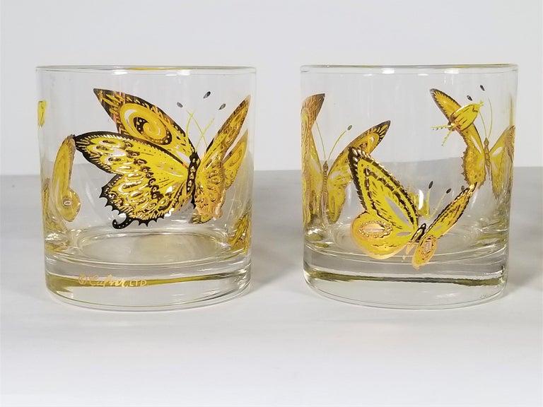 20th Century Culver 22-Karat Gold Midcentury Barware or Glassware For Sale