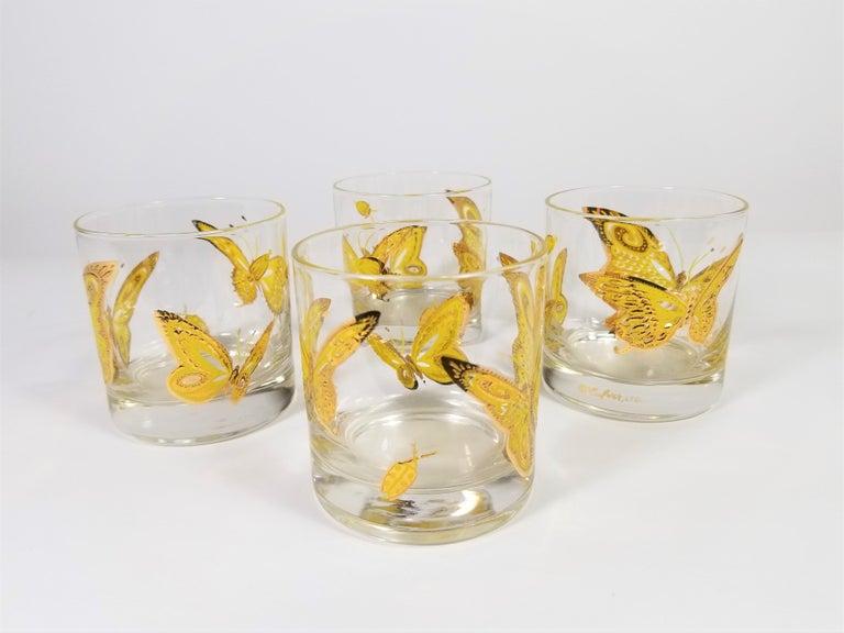 Culver 22-Karat Gold Midcentury Barware or Glassware For Sale 1